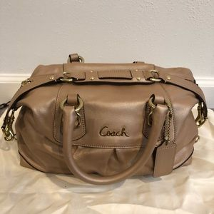 Authentic Coach Ashley Satchel in Tan